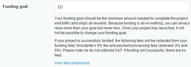 funding goals kickstarter